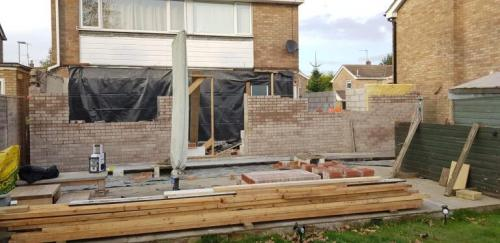 Two storey rear & side extension - Bourne - Works in progress