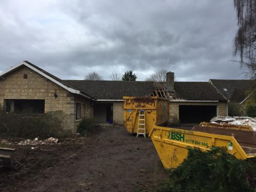 Demolition of existing bungalow to create new 4 bedroom stone dwelling - Sutton - Works in progress