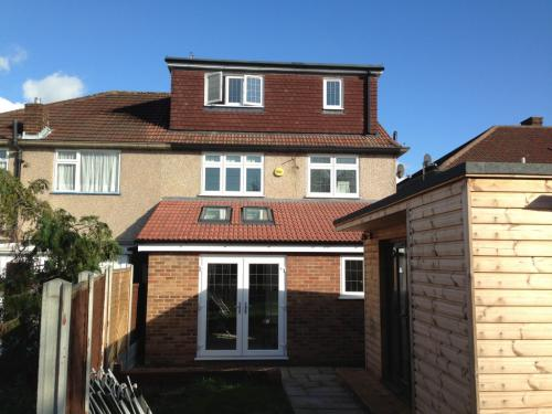 Romford rear extension and loft conversion after